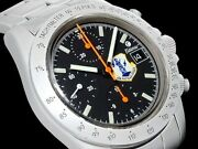 Tutima 7750 Chronograph Automatic Watch Face Color Black Ss Band Size 18cm