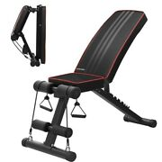Adjustable Sit Up Benches Incline Abs Bench Flat Fly Weight Press Fitness Rope