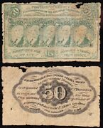 Affordable Scarce 1st Issue 50 Cent Fractional Currency Note Free Shipping