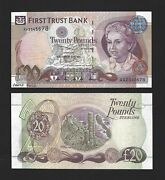 Northern Ireland 20 Pounds 2007 First Trust P-137bp Proof Aa2345678 Rare Unc