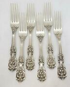 Reed And Barton Francis I First Sterling Silver Dinner Fork Set Of 6 Vintage