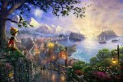 Kinkade Pinocchio Wishes Upon A Star Serigraph Standard Number On Cvs 27x18