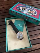 Pepe Le Pew And Penelope Mirror Heart Watch Rare Fossil Warner Bros 1994 New Box