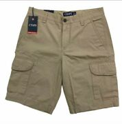 Chaps Mens Cargo Shorts Size 42 Khaki Brown New With Tag