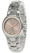 New Tag Heuer Link 32mm Ss Brown Dial Diamond Womenand039s Watch Wbc131e.ba0649