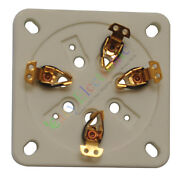 20pc 7pin Gold Ceramic Vacuum Tube Sockets For Gm70 Gm71 Audio Amplifiers Parts