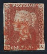 1841 Penny Red Spec Bs3sb Plate 14 Ka Red Maltese Cross With Rpsl Certificate