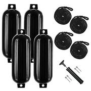 4pack 8.5and039and039x27and039and039 Dock Ribbed Boat Fenders Inflatable Bumpers Yacht Crash Float