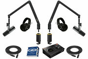 Yellowtec 2-person Complete Podcasting Bundle Black With Shure Sm7b Mics