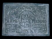 Th07125 Vintage 1970s E. Remington And Sons Gun And Firearm Rockmount Belt Buckle