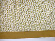 Vintage Cannon Royal Family Queen No-iron Percale Flat Sheet Yellow Flora 90x115
