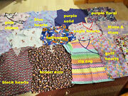 Buyers Choice Ladies Scrub Tops Size Large 12 14 Florals Hearts Zigzag Solids