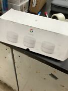 Google Wifi Mesh Network Router Ac1200 Point With Outlet Wall Mount Bundle 3pk