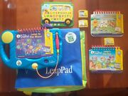 Leapfrog My First Leappad Lot Learning System, Backpack 3 Books 3 Cartridges Bus