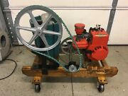 Vintage Briggs And Stratton 2hp Engine 1959 With 4qt White Mountain Freezer