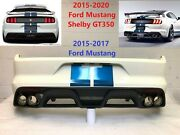 2015-2020 Ford Mustang Shelby Gt350 Rear Bumper Wimbledon White 16 Oem