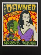 1998 The Damned Silkscreen Poster Signed And Numbered By Alan Forbes