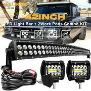 For Ford Ranger Roof Upper 42 Curved Led Light Bar Upgrade Mounting +pods Wire