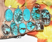 1000pc Natural Turquoise Gemstone Pendant Wholesale Lot 925 Silver Overlay Wh-40