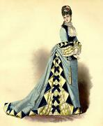 Dress Of Diner Sewing Gustave Janet La Fashion Artistic Lithography Xixth