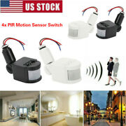 4pack Pir Infrared Motion Sensor Detector Switch Led Security Outdoor Wall Light