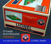 Lionel O-gauge Playground, Animated Swings, Seesaw, Merry-go-round Ships Free