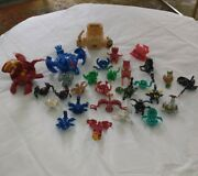 Huge Bakugan Collection 144 Piece Lot 28 Figures Gundalian Invaders Cards Rules