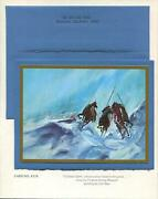 Vintage Christmas Native American Figurative Abstract Earl Biss Greeting Card