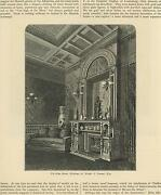Antique Blue Room Parlor Victorian Vases Fireplace Walter Gurnee Attorney Print