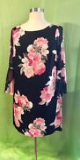 Jessica Howard Woman 20w Floral Long Sleeves Lined Dress Nwt Plus Size Dress