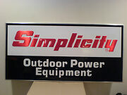 Simplicity Lawn And Garden Tractor Dealer Sign. Nos From Closed Dealer.