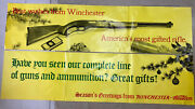Vintage Winchester Ammunition Firearms Guns Advertising Hunting Sign Poster