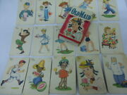 Rare Vintage Whitman 1940s-1950s Old Maid Card Game Complete 21 Pair Setas Is