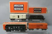 Lionel Postwar Operating Freight Cars 3456, 3656, 3472 And 3459 [4]/box