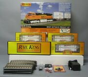 Mth 30-4206-1 O Bnsf Sd70ace Diesel R-t-r Deluxe Freight Train Set W/ps 2.0/box