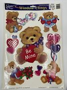 Vintage 1990's Classi-clings Static Cling Window Decorations Valentine's Day New