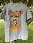Fighter And The Kid Podcast Tee Mens M Scrooge Mcduck Ducktales T-shirt Schaub