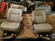2004 Ford Excursion Second Row 2 Bucket Seats Limited Leather Tan 2005 2003 2002