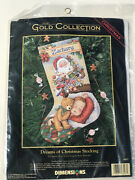Dimensions Dreams Of Christmas Sugarplums Stocking Kit 8497 Gold Collection New