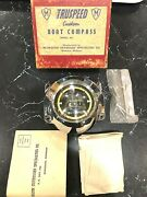 Vintage Tru Speed Boat Compass 50and039s-60and039s Era Hard To Findnew In Box