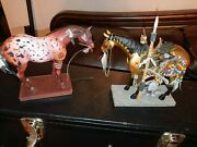 Trail Of Painted Ponies, 2 Native Amer. Indian War Horses, Item 's 1543 And 12229