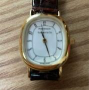 Quartz White Dial Analog Watch Battery Replaced Used Vintage Antique