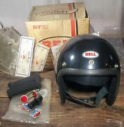 Vintage Bell Rt Helmet / Bell Rt Road Or Trail Helmet 1980 W/ Box And Acc. Lot