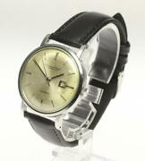 Schaffhausen Automatic Cal8531 Date Stainless Silver Dial Watch Used Antique
