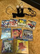 Sony Ps3 Playstation Move 2 Controllers, Eye Camera, 9 Game Bundle Just Dance