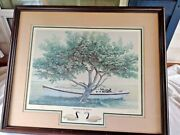 Original Alan Cheek Framed Picture Down East 330 Of 750