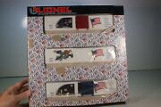 New O Scale Lionel 6-19599 The Old Glory Series 3 Box Cars Set ...e51