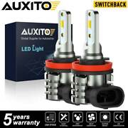 Auxito H16 H11 H8 Led Fog Light Bulbs Switchback Dual Colors 4000lm Amber White