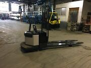 Crown Pe3520-80 Electric Pallet Truck Jack Double Rider 8000lb 96 Inch Long