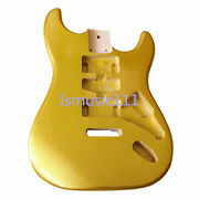 Guitar Poplar Wood Body Metallic Gold Unfinished For St Semi-finished Products